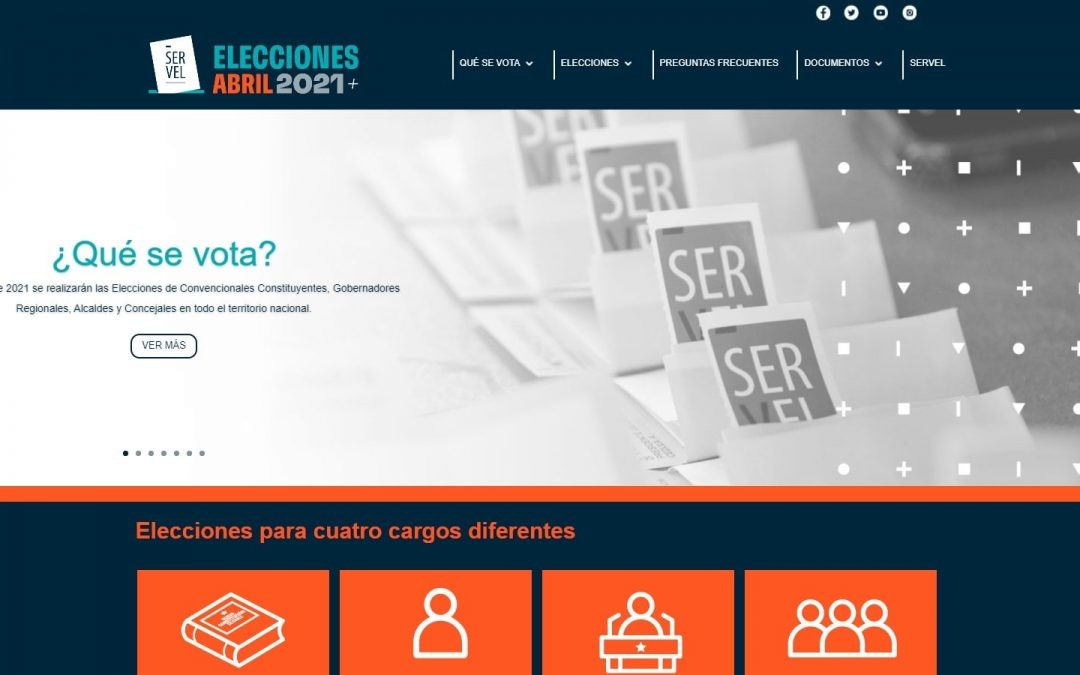 Servel lanza sitio oficial para las Elecciones de abril de 2021